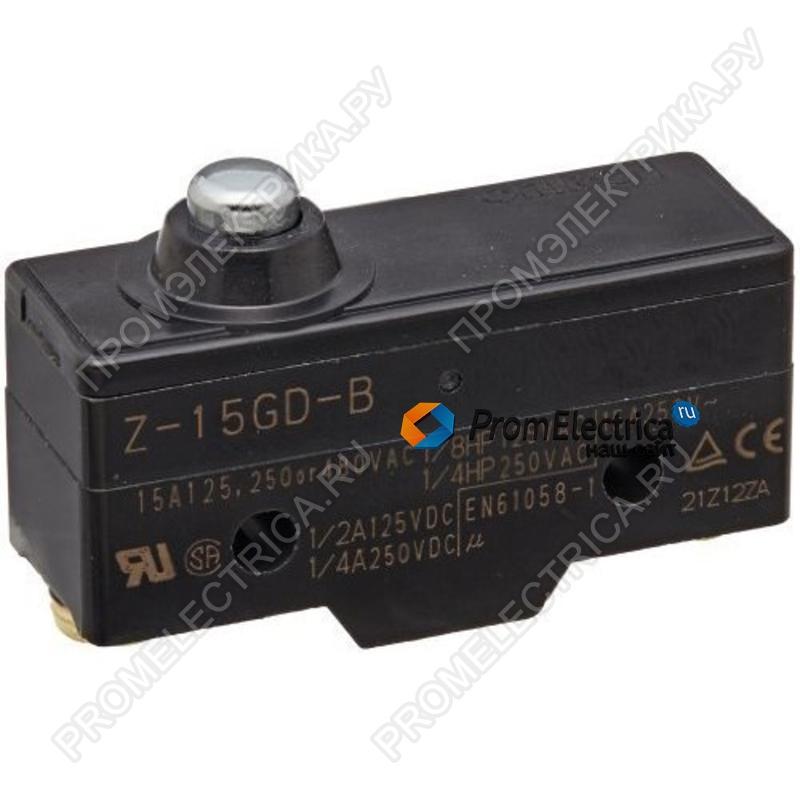 Z-15HD-B Концевой выключатель серии Z, ток 15 A, контактный промежуток 0.25 мм (высокочувствительный), коротк