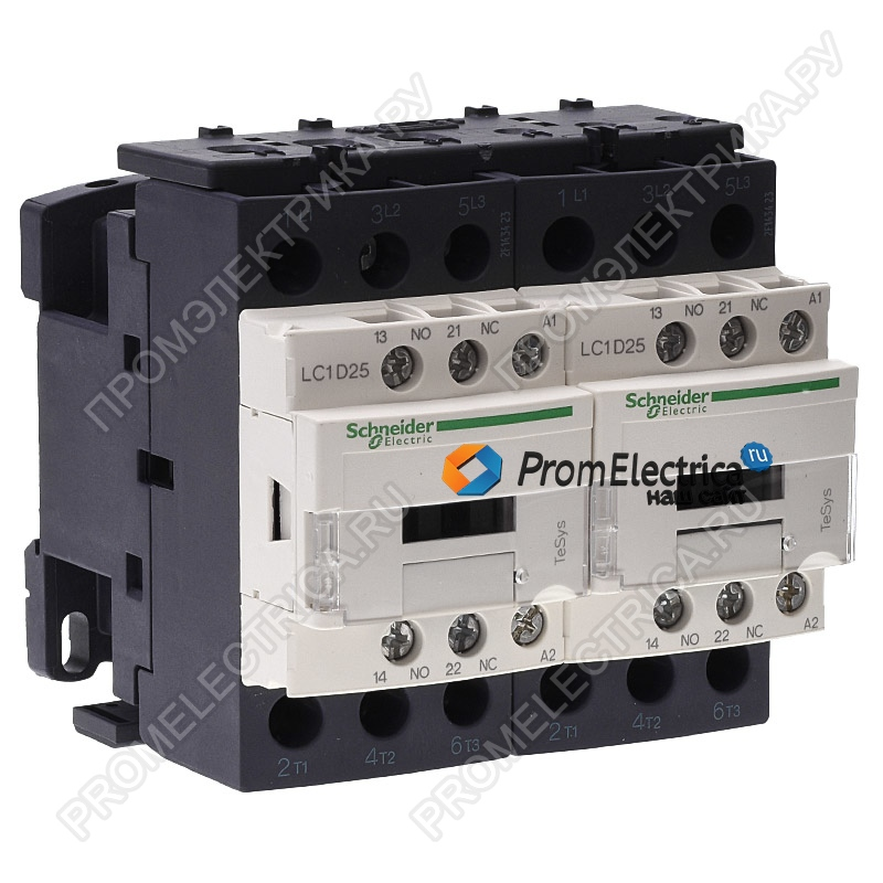 LC2D25CD КОНТАКТОР РЕВ3Р,25A,НО+НЗ,36V DС Schneider Electric