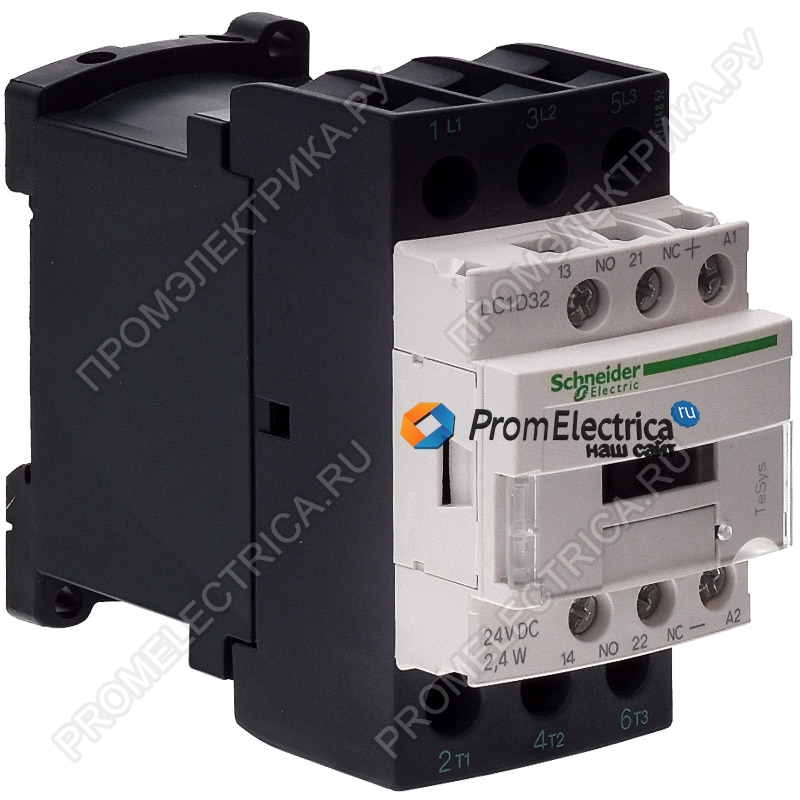 LC1D32BL КОНТАКТОР3Р,32A,НО+НЗ,24V-,24ВТ,РАСШ Schneider Electric