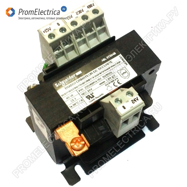 ABL6TS04U ТРАНСФОРМАТОР 230-400В 1X230В 40ВA Schneider Electric